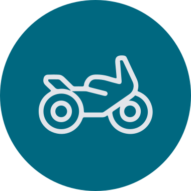 Motorcycle circular icon