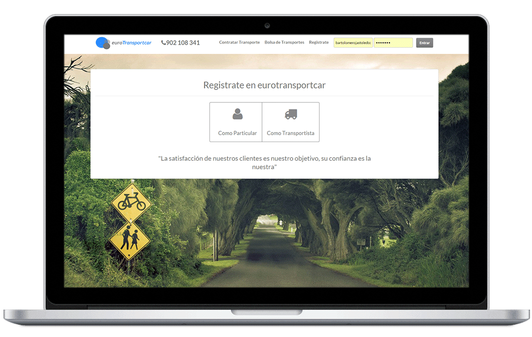 Registrate en Eurotransportcar